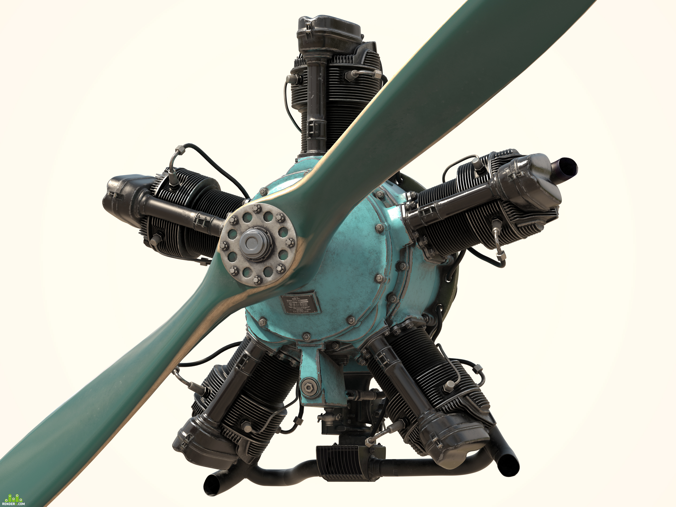 preview Aircraft engine M-11 3D model