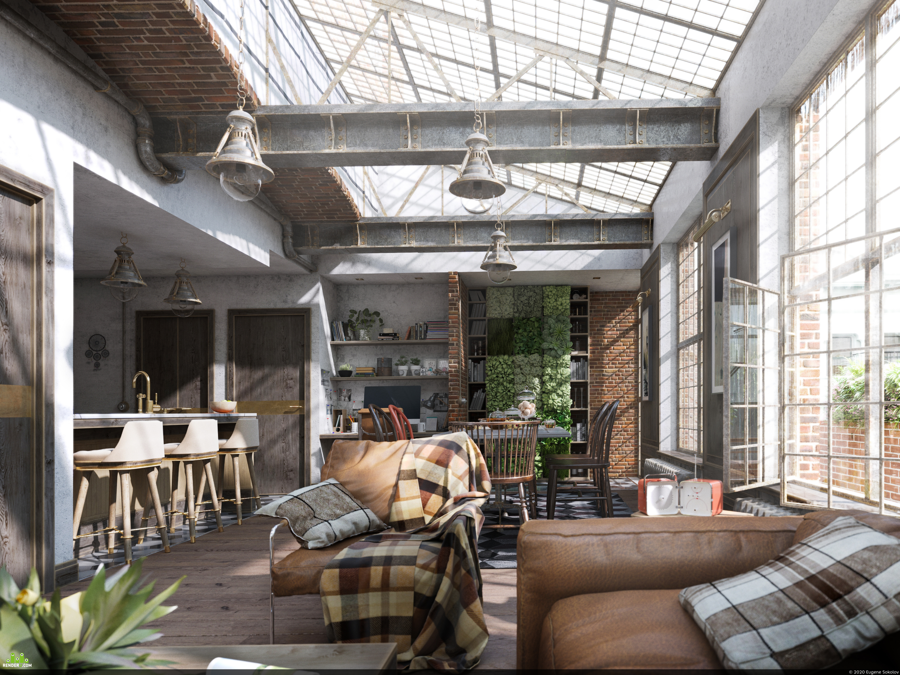 preview Квартира в бывшем здании склада. Apartment in a former warehouse building.