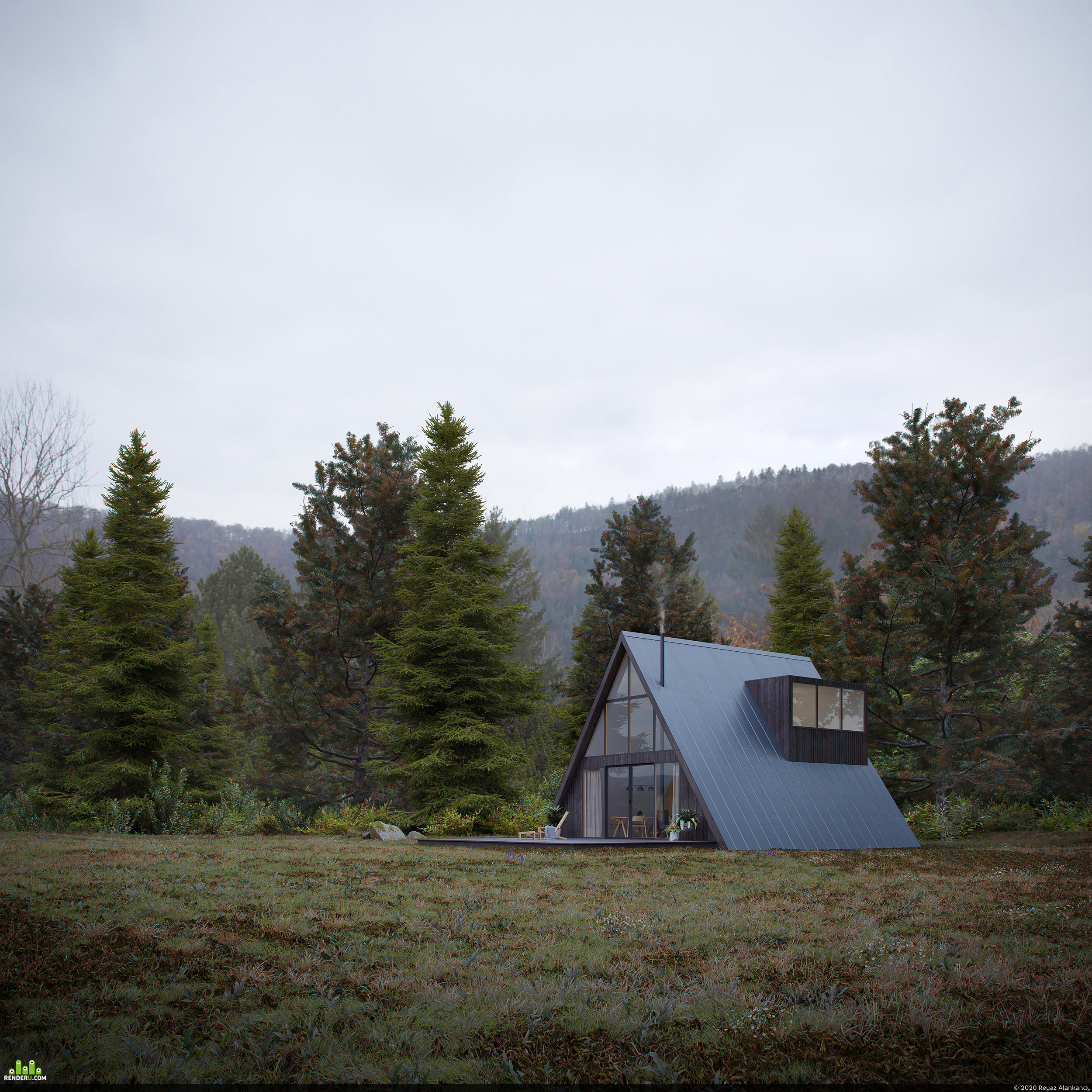 preview A-Frame House