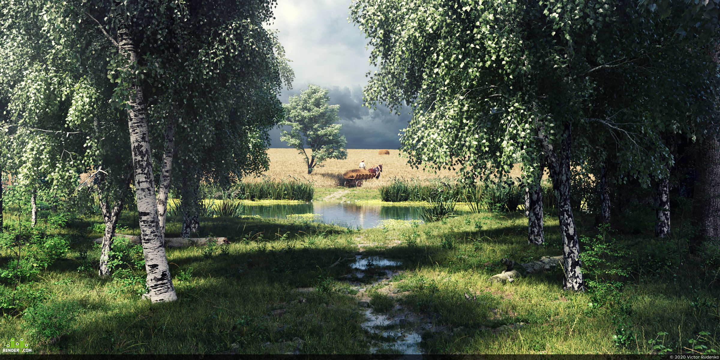 preview CGI Rural landscape 3D