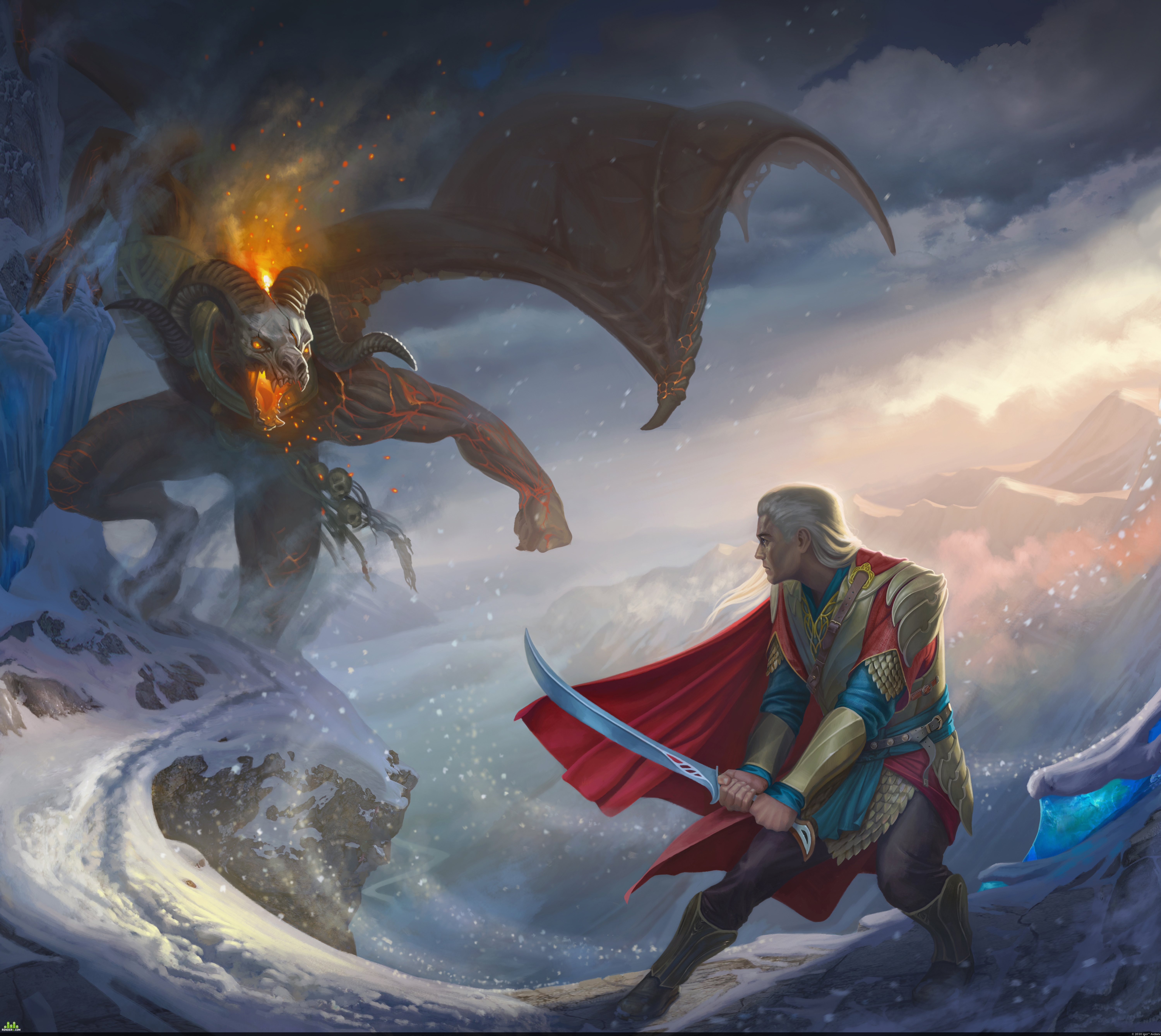 preview Duel between Glorfindel and the Balrog in Gondolin