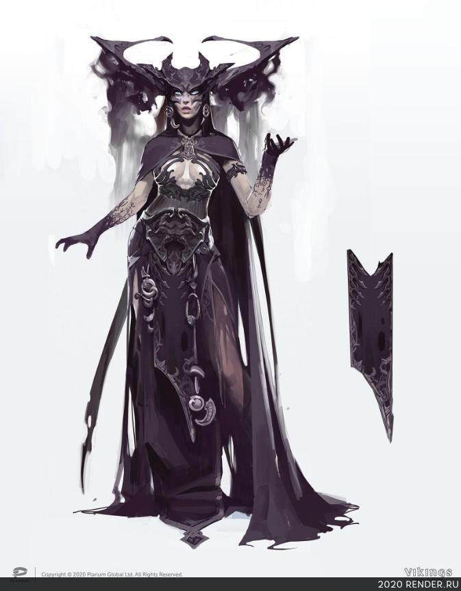 preview Богиня Хель (иллюстрации для внешних ресурсов). Vikings: War of Clans