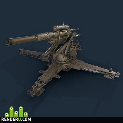 preview Немецкая артиллерийская установка Флак 88