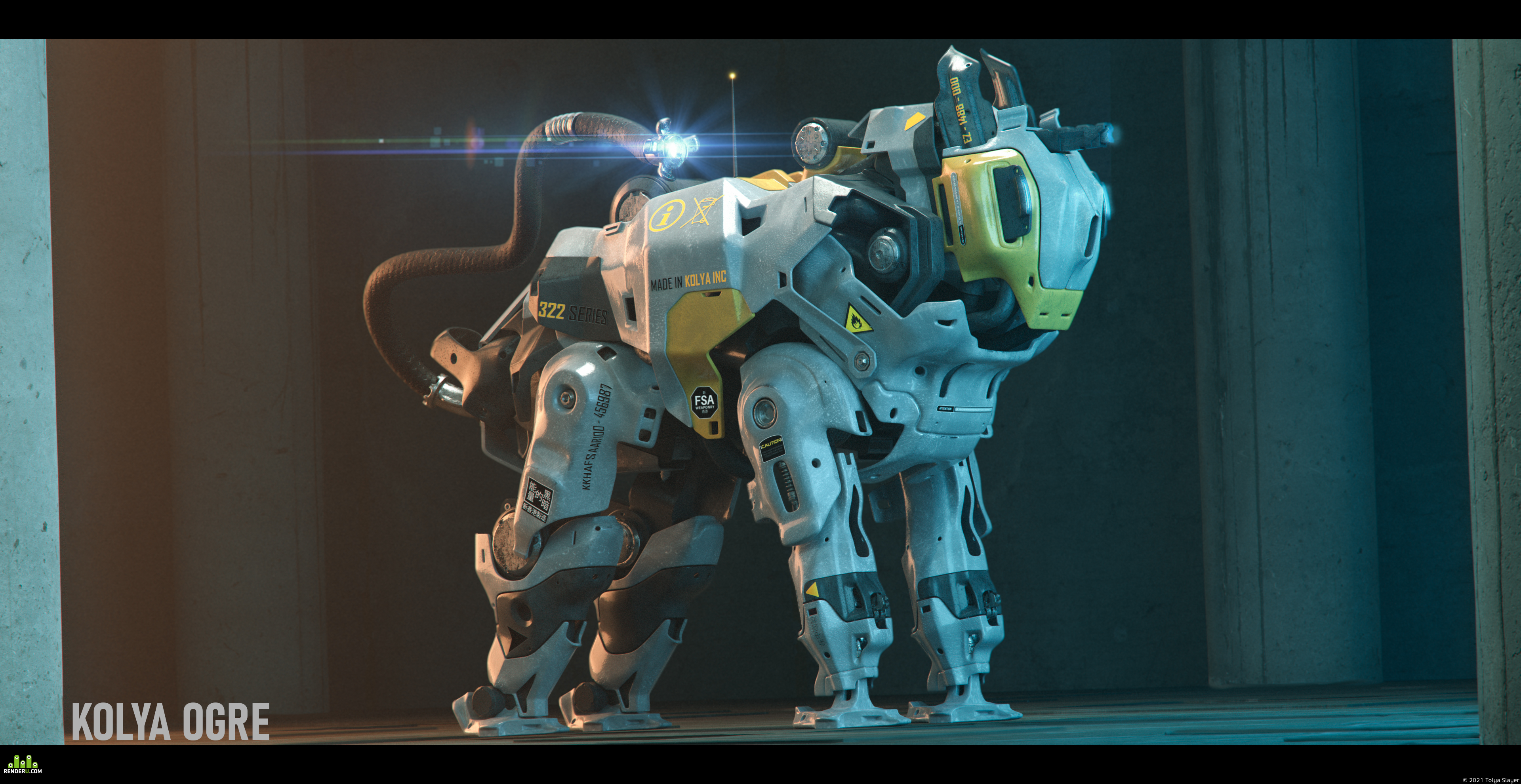 preview Sci-fi Mecha Dog