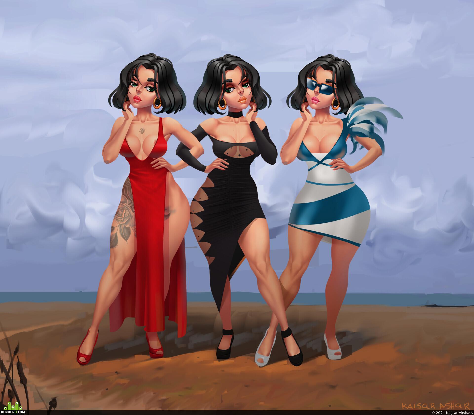 preview Три платья