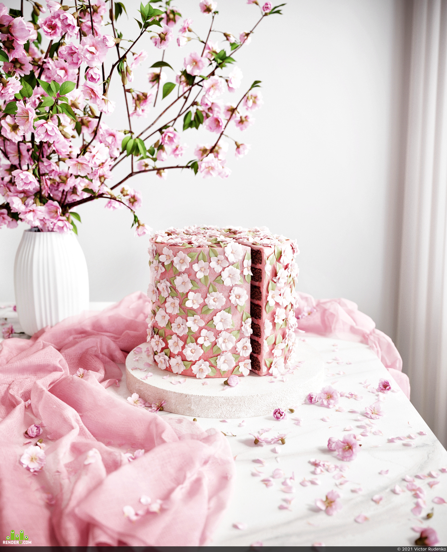 preview CGI Pink Cake 3D