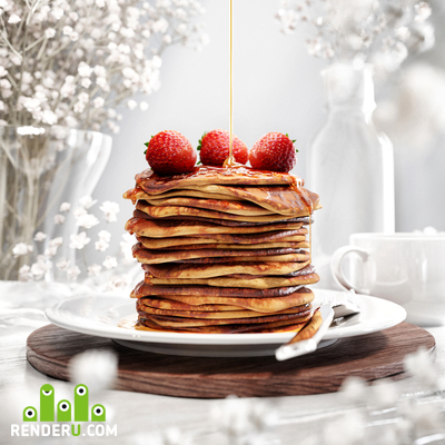 preview CGI Pancakes 3D