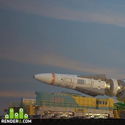 preview Транспортировка тяжелой ракеты