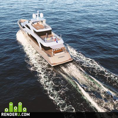 preview Визуализация яхты Couach 5000 FLY