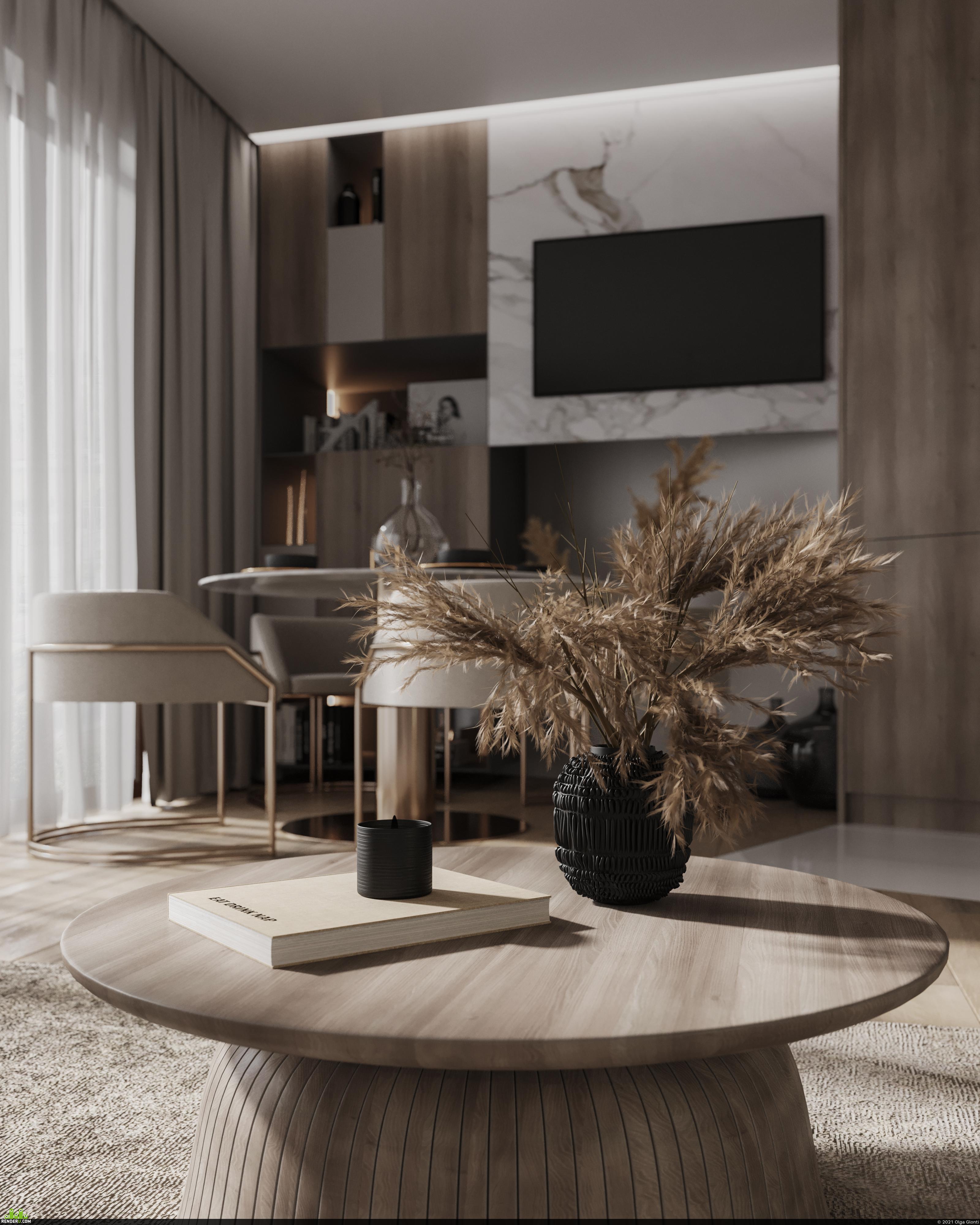 preview Triangular livingroom