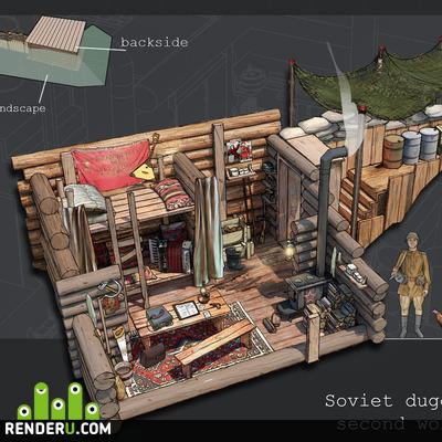 preview Концепт советской землянки.