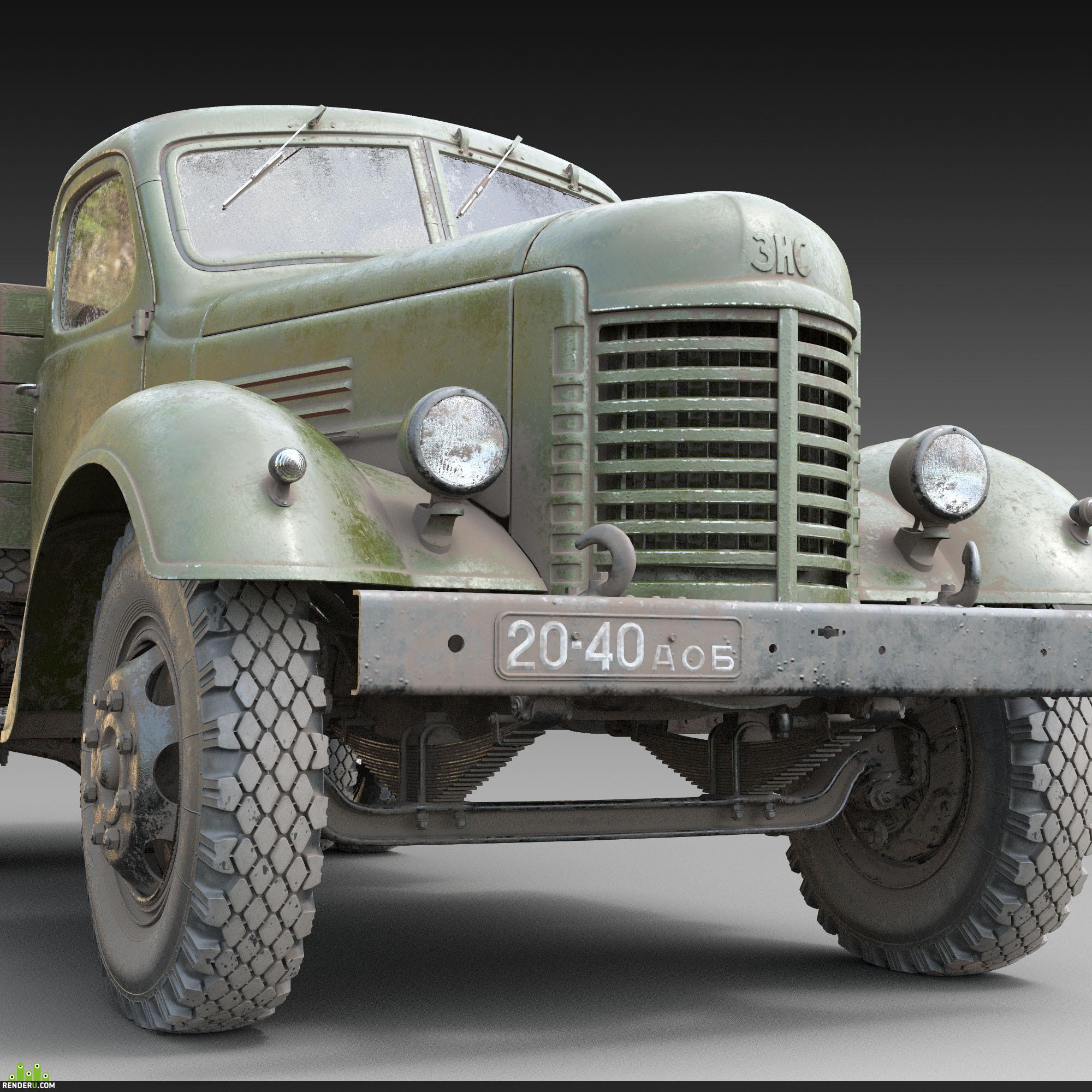 preview 3д модель ЗИС-150_1956