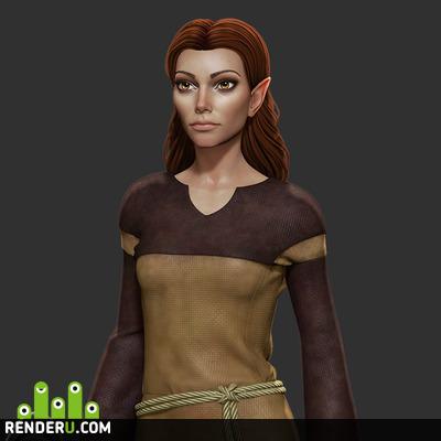 preview Elanee (Neverwinter Nights 2) fanart