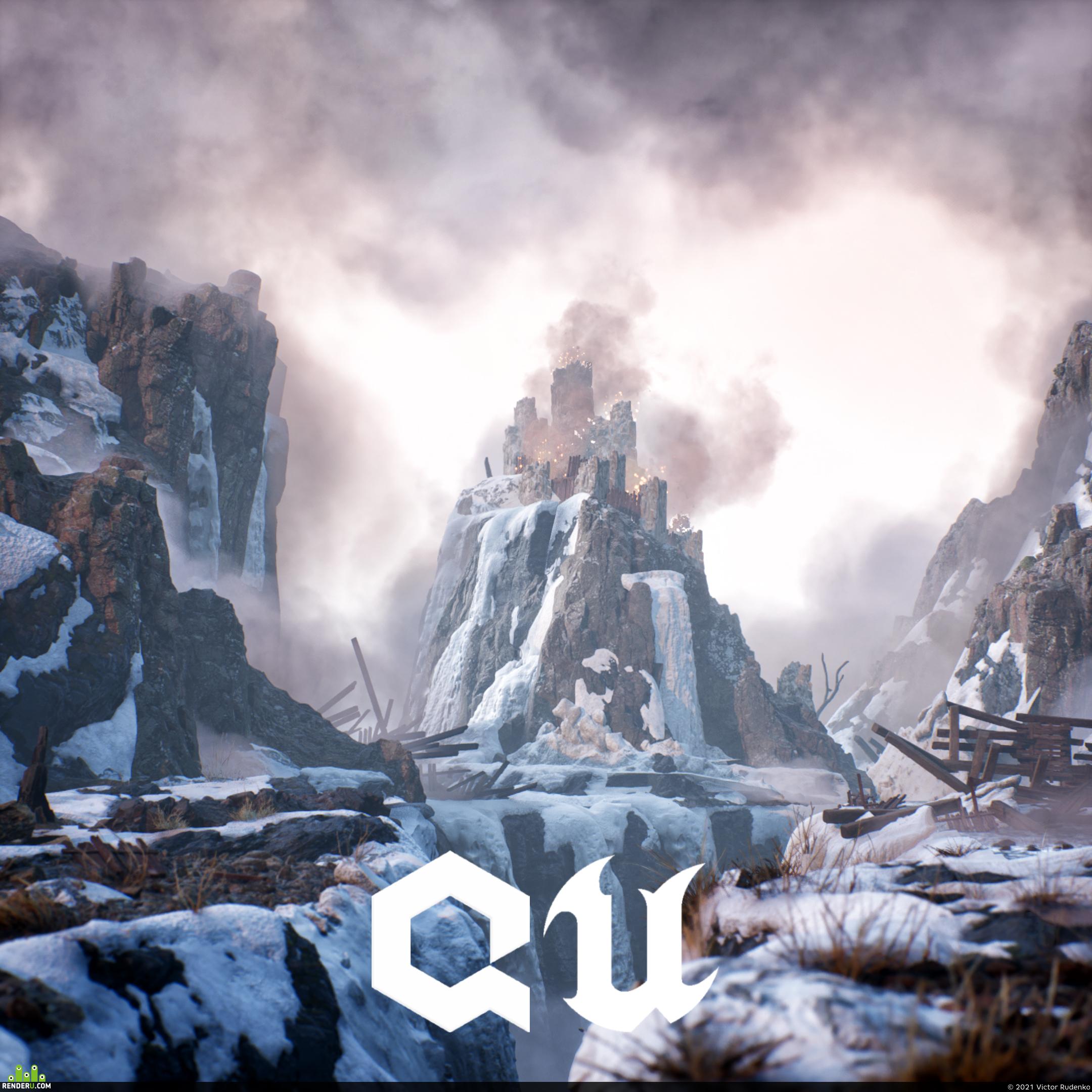 preview Winter castle | UE5+Quixel