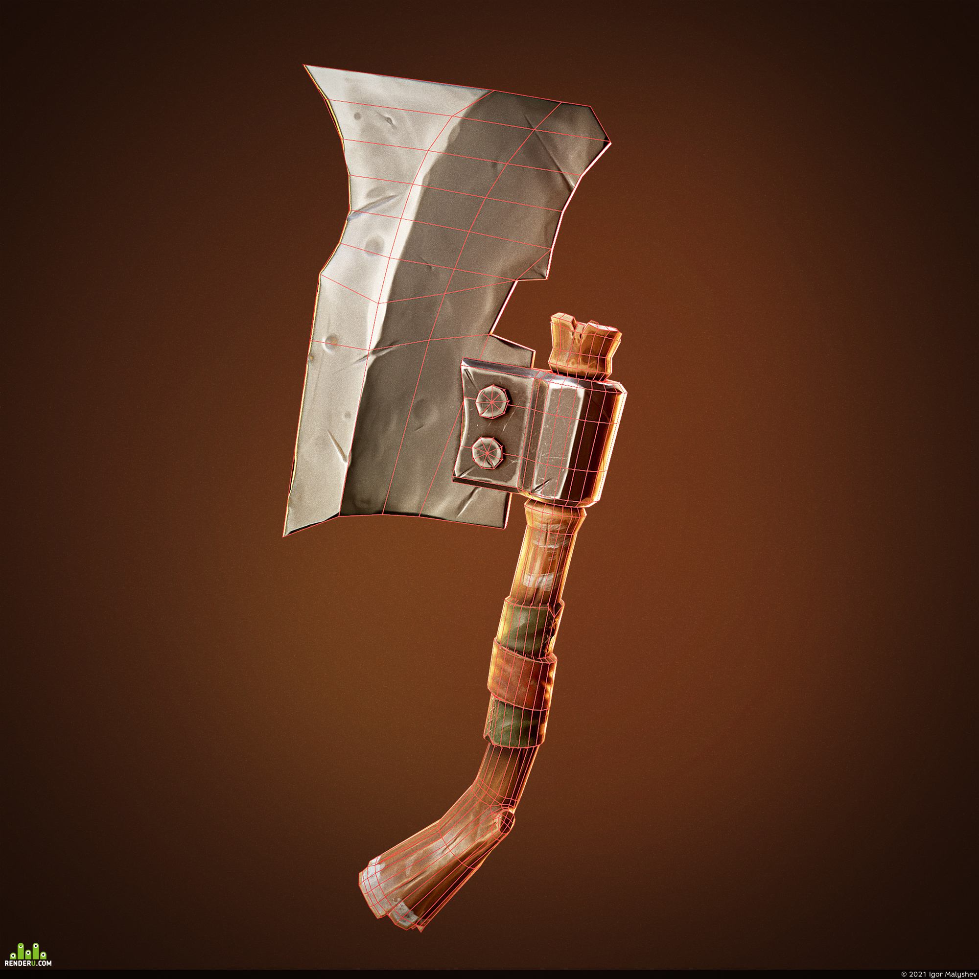 preview Stylized axe