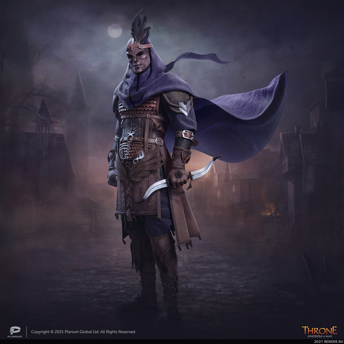 preview Tier VIII warriors, the Adomi Brotherhood (in-game content, concept art, and stages of the character's development). Throne: Kingdom at War