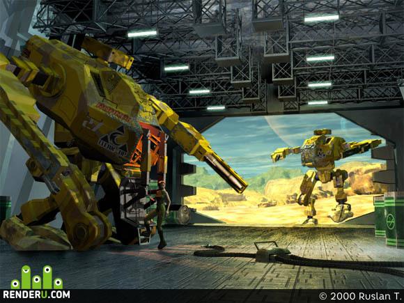 preview R.O.A.R.E.R. in hangar