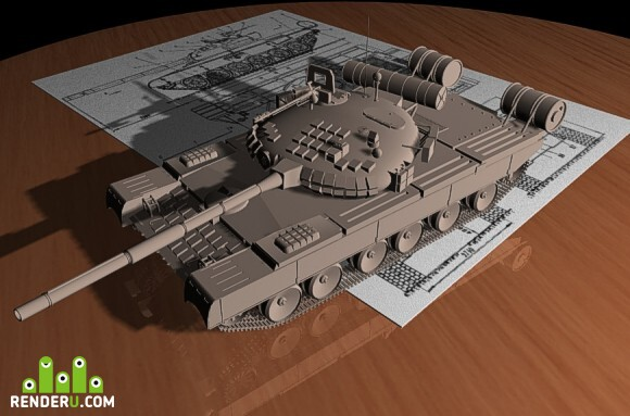 preview T-80U battletank