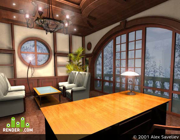 preview 3D Interior Cabinet