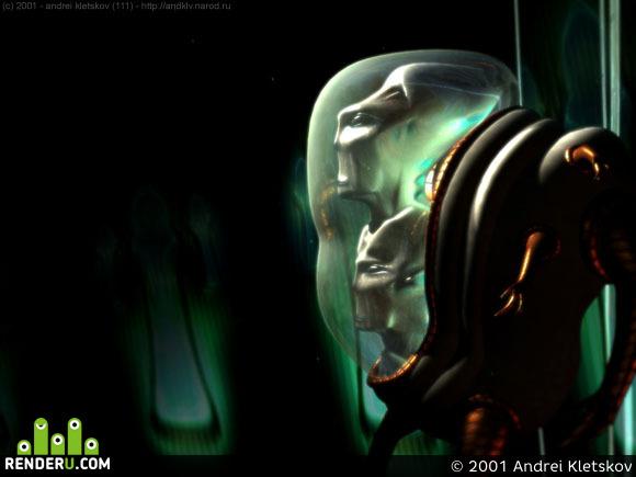 preview Жертва инопланетного аборта или двухголовый инопланетянин