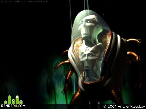 preview Жертва инопланетного аборта или двухголовый инопланетянин - 2