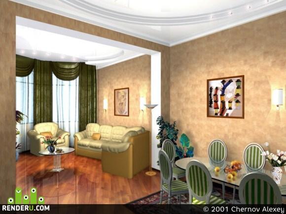 preview Интерьер Гостиной комнаты