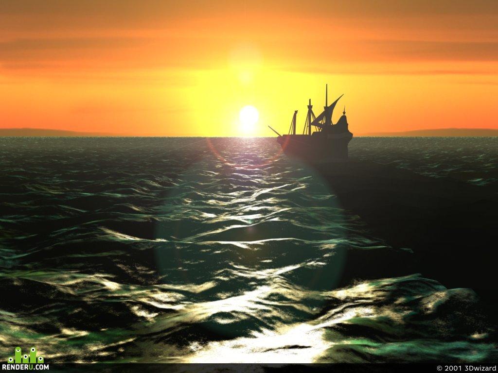 preview Вечернее море