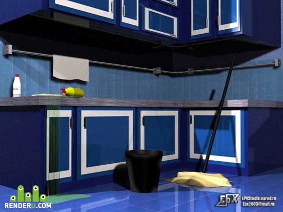 preview Blue kitchen