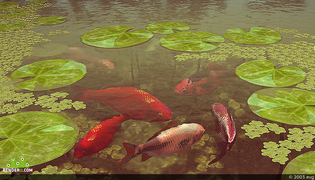 preview китайский сад: пруд