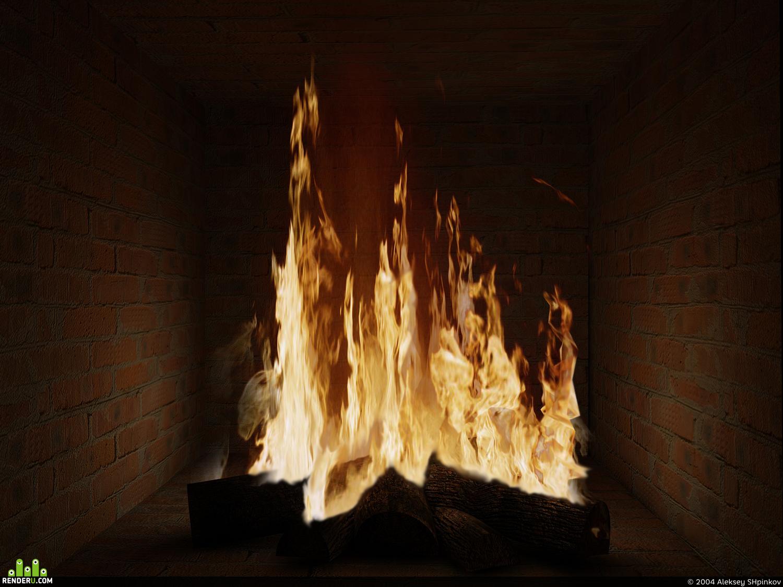 preview огонь из камина