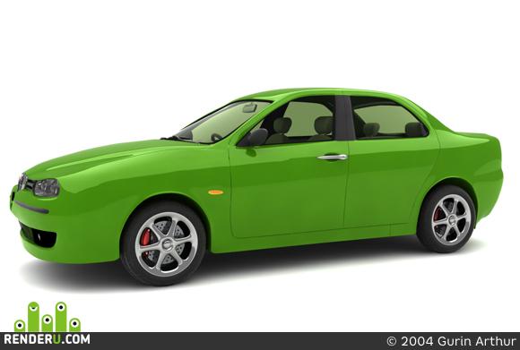 preview Green Alfa-Romeo 156