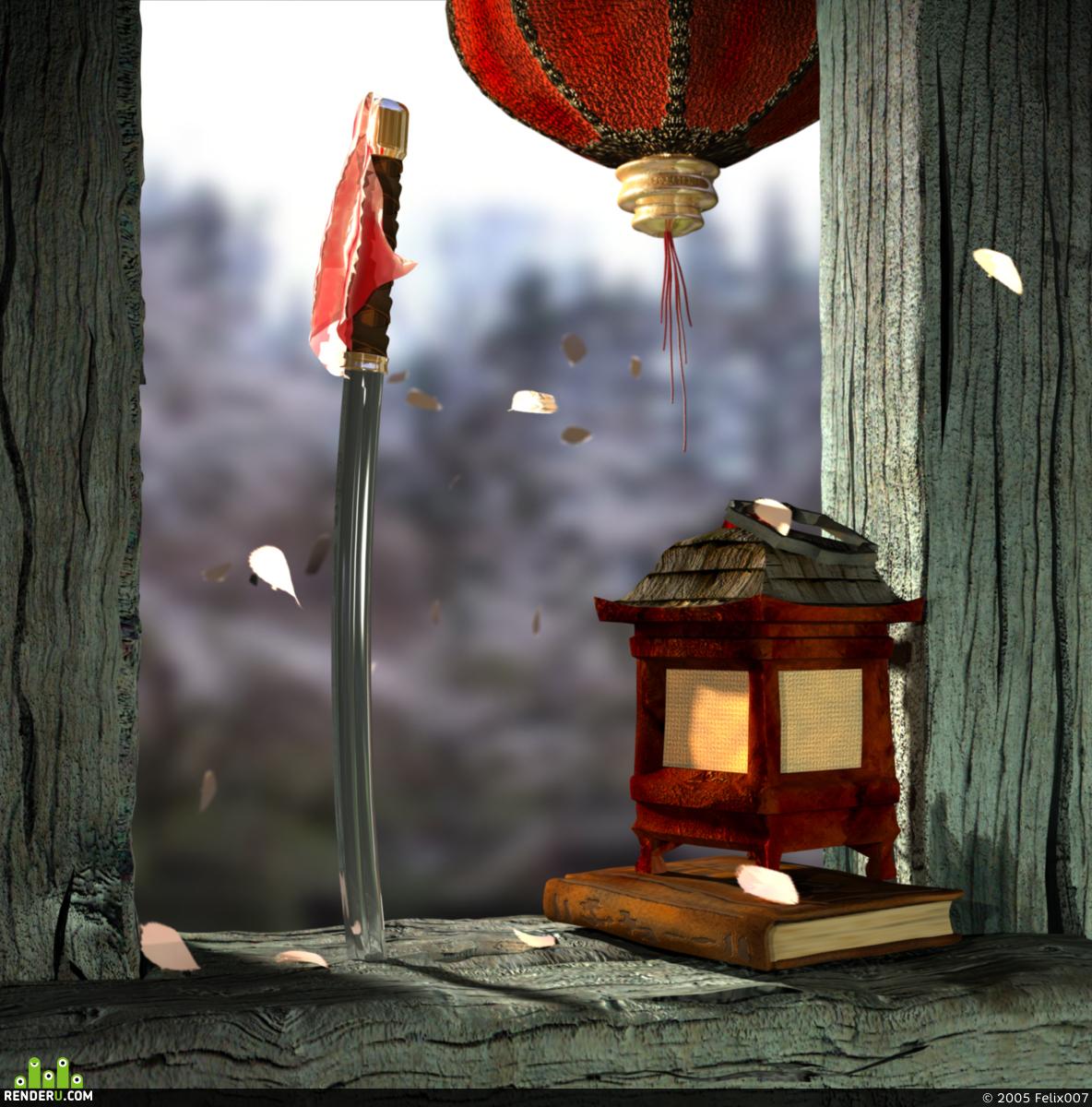 preview toska odinokogo samuraya skrashennaya vesennim solntsem i sakuroy