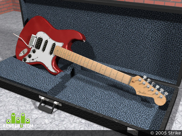 preview Fender Am Deluxe Fat Strat Locking