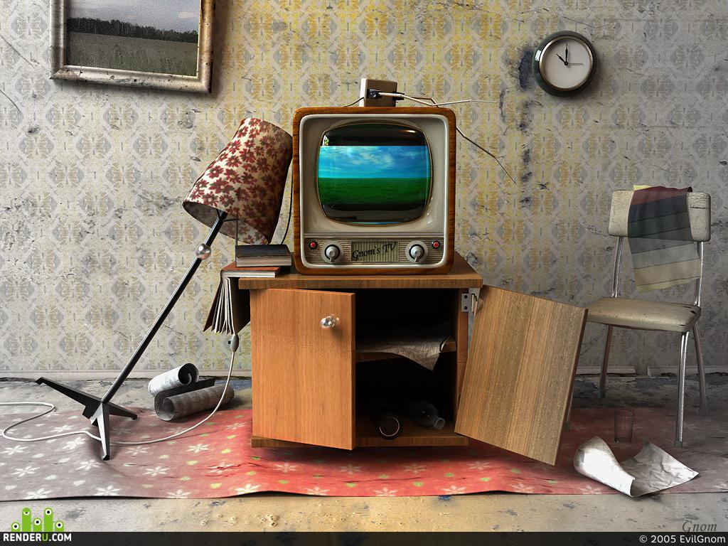 preview Чёрно-белый телевизор