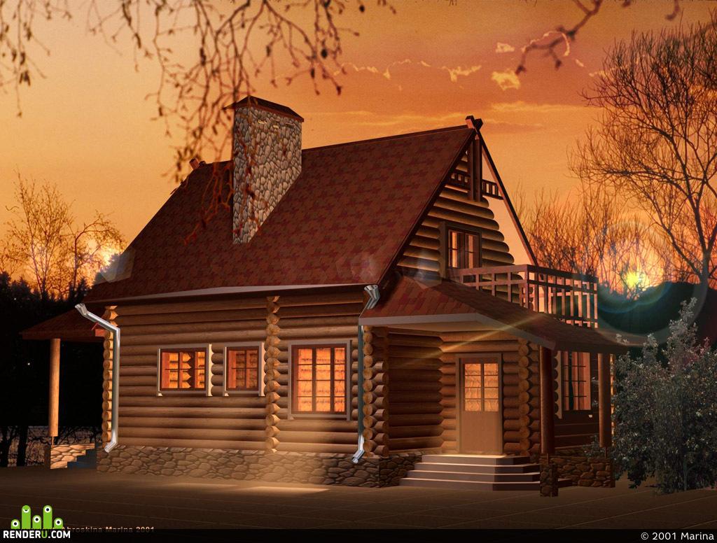 preview Бревенчатый дом