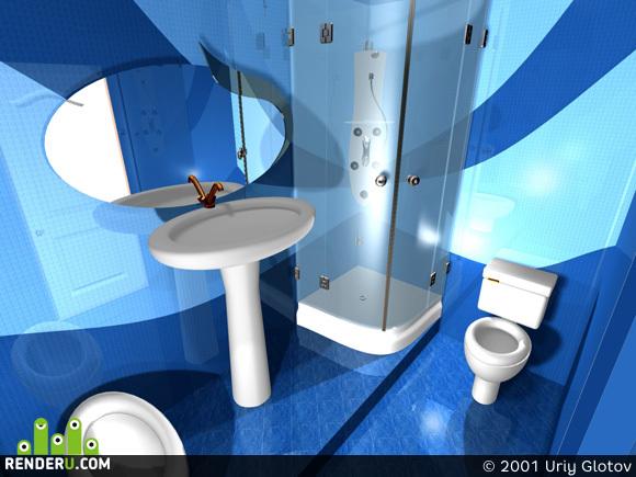 preview Ванная комната в коттедже
