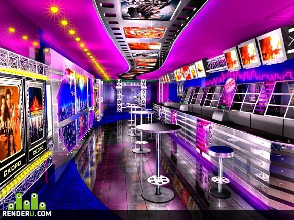 preview Бар в холле одного строящегося кинотеатра в Москве