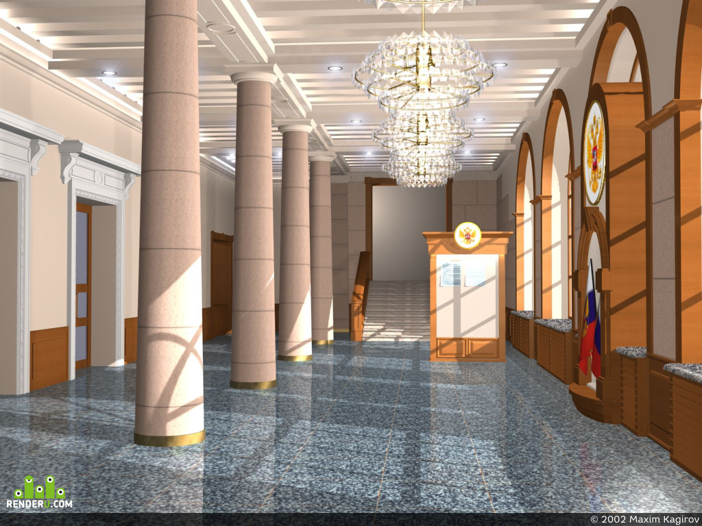 preview Холл администрации г.Кемерово