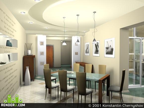 preview Интерьер гостинной комнаты