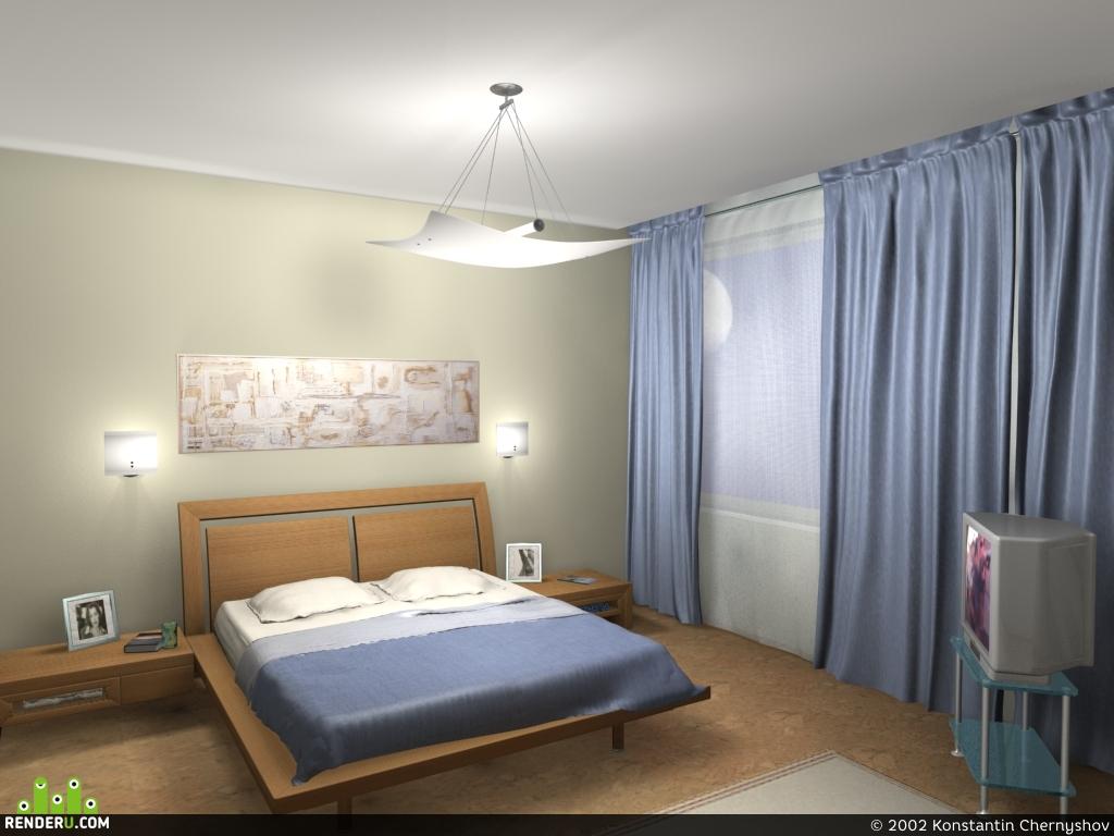 preview Интерьер спальной комнаты