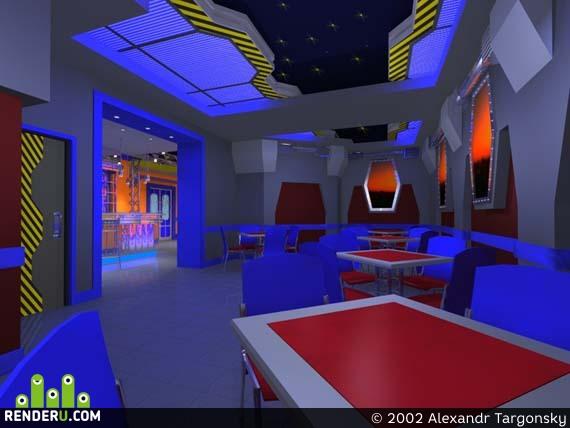 preview Кафе в холле ночного клуба
