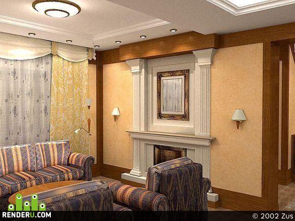 preview Фрагмент интерьера частного дома