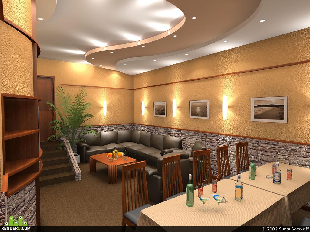 preview Комната отдыха сауны
