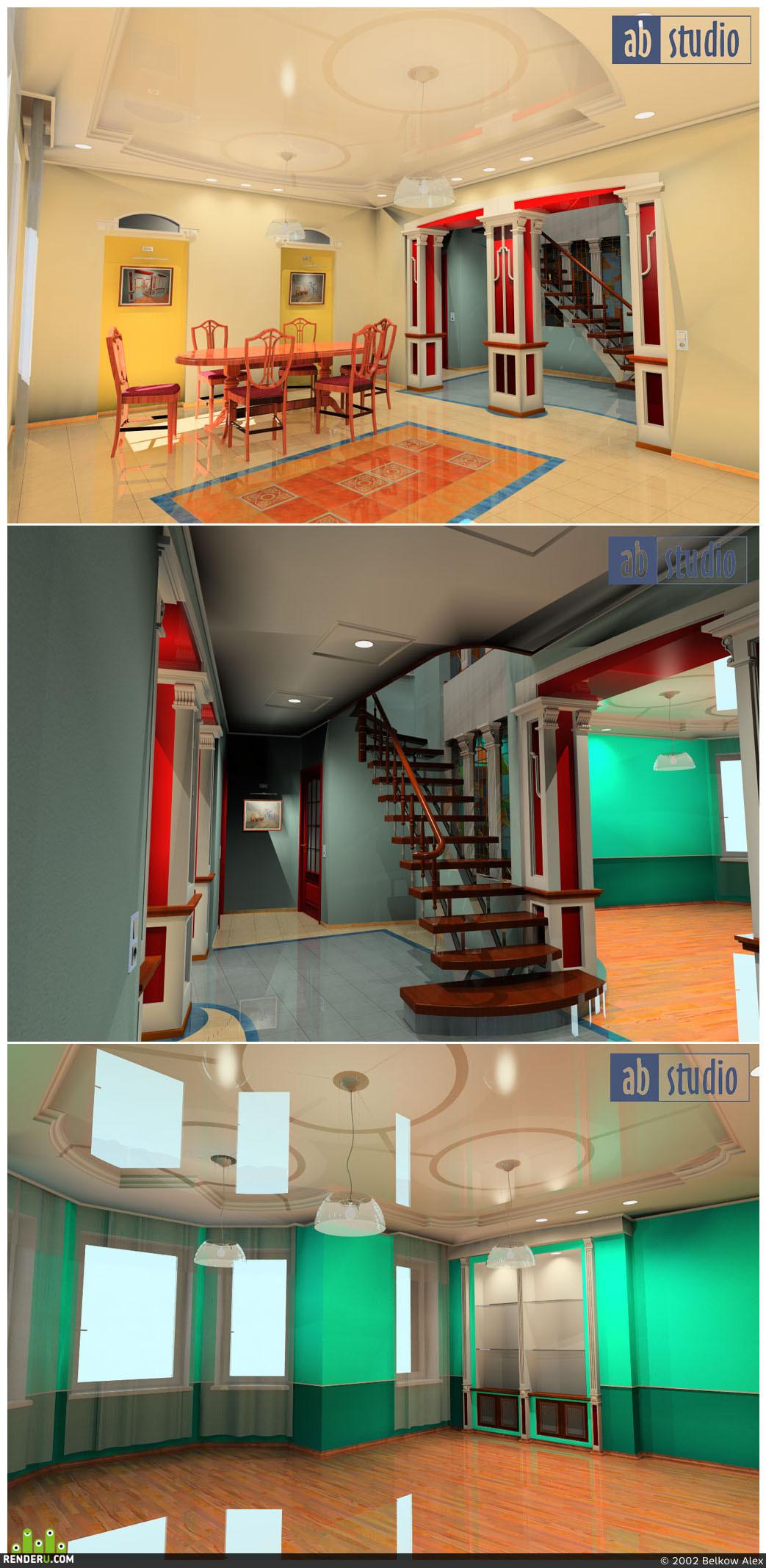 preview Проект интерьера 2-х эт.квартиры в г.Иркутске