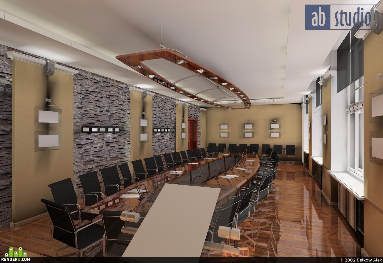 preview Проект интерьера конференц-зала Гос.Университета в г.Иркутске