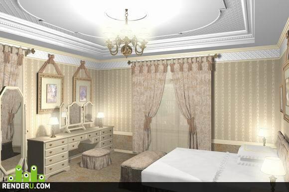 preview Спальня в городской квартире