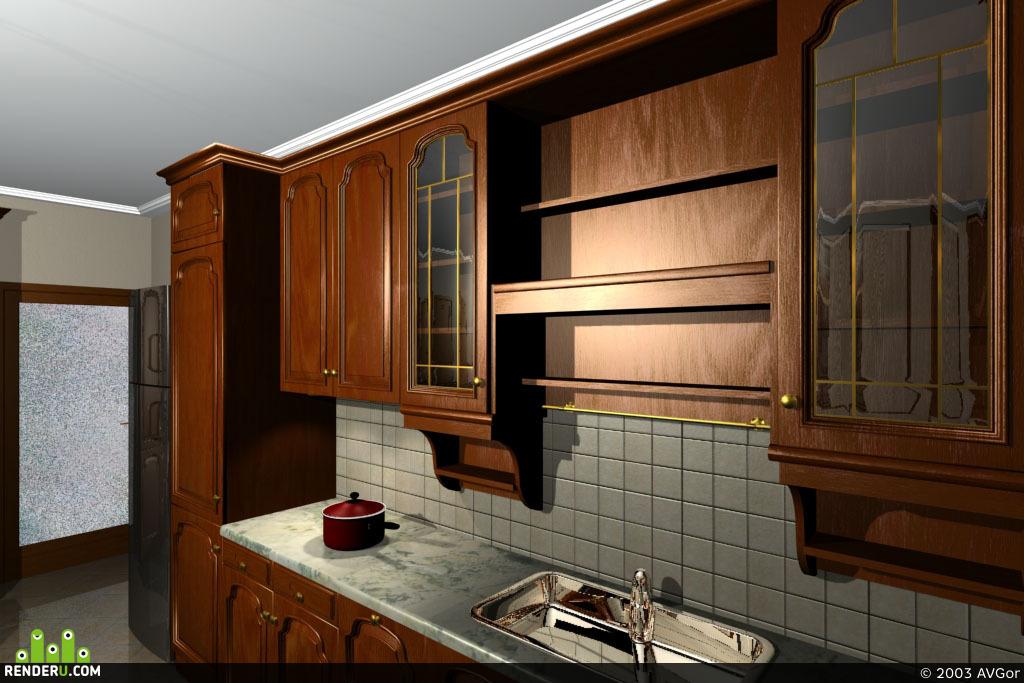 preview Кухня в частном доме