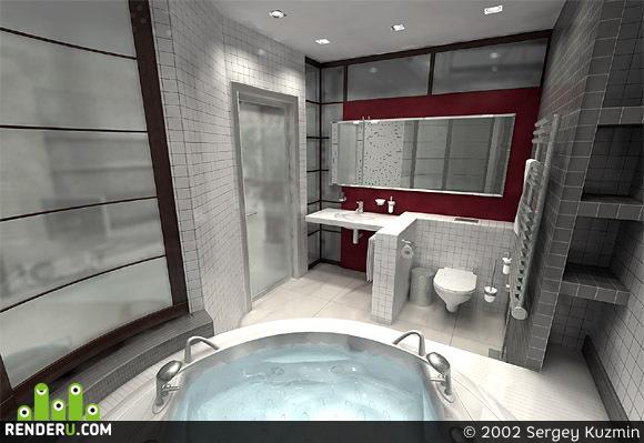 preview Детская ванная в 4-этажном таунхаусе