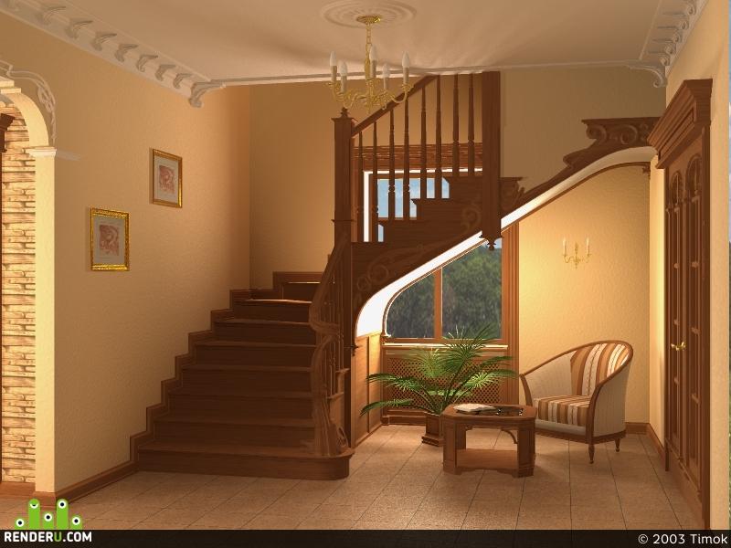preview Прихожая с лестницей