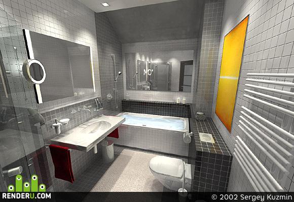 preview Гостевая ванная в загородном доме
